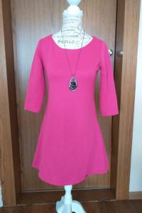 Tunika bluzka sukienka mini suknia różowa Impossible r S...