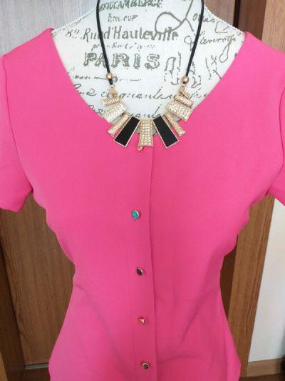 Bluzki Różowa bluzka A Rudzka r M Płaszcz