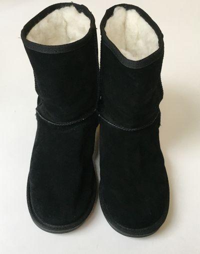 Zimowe Buty Emu Wool Czarne 39 25 cm Wełniane Wełna Botki Kozaki
