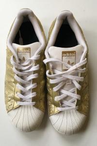 Tenisówki Trampki Adidas 395 25 cm Złote Cekiny Superstar...
