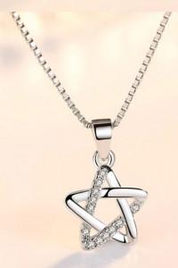 Łańcuszek z gwiazdą srebro 925