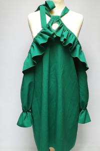 Sukienka NOWA Zielona Paparazzi Fashion L 40 Odkryte Ramiona...