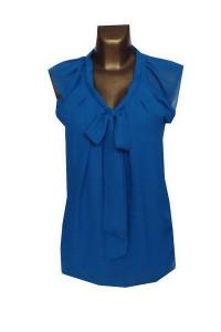 Niebieska Bluzka z Kokardą 40 L...