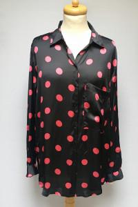 Koszula Czarna Groszki Kropki Zara XL 42 Oversize NOWA