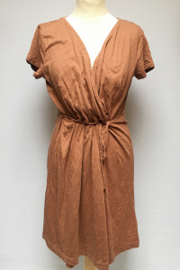Sukienka Brązowa Kopertowa H&M Basics L 40 Do Karmienia