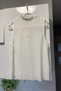 Zara nowy biały top plisowany...