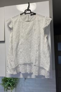 Mohito biała bluzka gipiura falbanki rozmiar 34 bawełna...