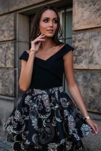 Sukienka 253 wzory 34 3 38 40 kwiaty...