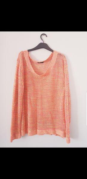 Swetry Kolorowy pleciony sweterek