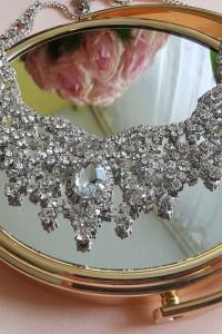 Kolia ślubna biżuteria naszyjnik