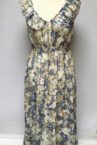 Sukienka Long Maxi Długa Kwiaty L 40 365 Sunshine Rozkloszowana...
