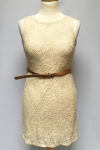 Sukienka Beżowa Beż Koronkowa NOWA S 36 Rare London...