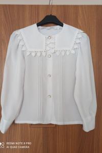 Bluzka koszula biała dziewczynka