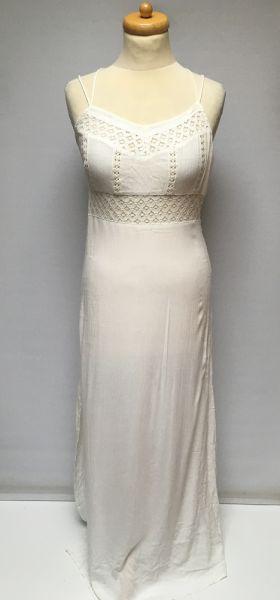 Suknie i sukienki Sukienka Długa Maxi Long Ażurowa NOWA Asos M 38 Biała