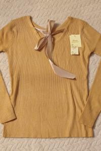 Miodowy nowy sweterek prążek rozm 36 38 MEGA cena...