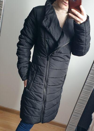 Odzież wierzchnia Czarny pikowany płaszcz Carry kurtka rozmiar XS