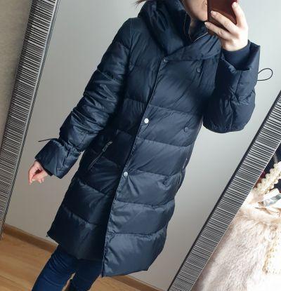 Odzież wierzchnia Puchowy płaszcz zimowy Zara granatowa kurtka rozmiar XS