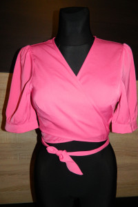 Fashion union krótki top HOT PINK ROZ 36 38...