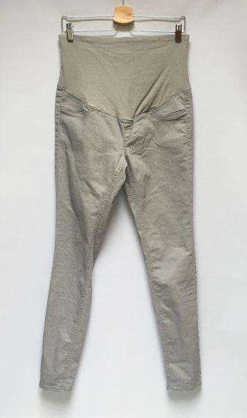 Spodnie Spodnie Szare Rurki H&M Mama XL 42 Ciążowe Ciąża