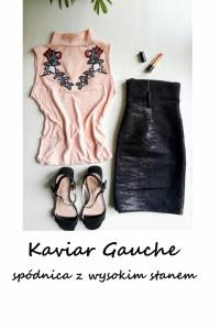 Czarna spódnica wysoki stan basic minimalizm M L Kaviar Gauche...