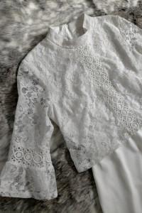 asos Biała sukienka z koronką 38