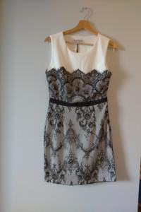 Parisian Sukienka z ozdobną koronką 38