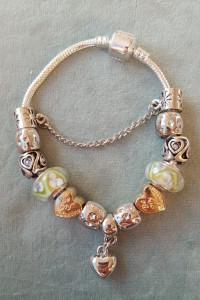 Nowa bransoletka modułowa koraliki beads charms celebrytka