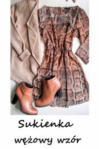Wężowa sukienka S M...
