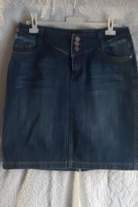 Ciemnoniebieska spódnica jeansowa Gourd...