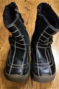 Zimowe ocieplane buty kozaki kozaczki GUFO unisex 28...