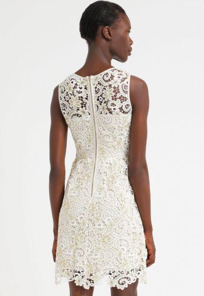 Suknie i sukienki Elegancka sukienka koronkowa gipiura ślub cywilny ML