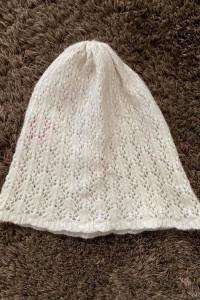 Biała czapka Tiffi wełna wełniana...