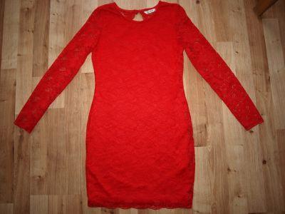 Sukienki i spódniczki Czerwona koronkowa 11 12 lat