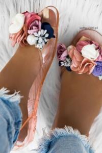 Buty damskie balerinki meliski kwiaty 39