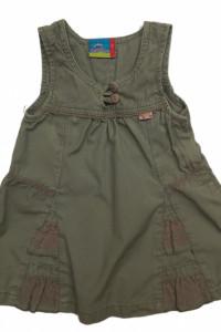 Topolino Sukienka dziecięca khaki bawełniana 74cm