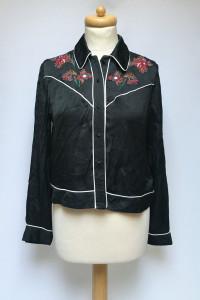 Koszula Czarna Zara Woman Haft M 38 Elegancka