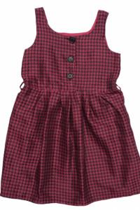 ADAMS sukienka dziecięca Satynowa pepitka 116cm