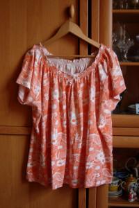 Next luźna bluzka hiszpanka bawełniana print kwiaty r 28