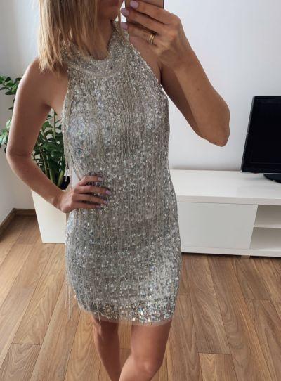 Suknie i sukienki Cekinowa elegancka sukienka 38