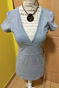 Letnia bluzeczka bluzka tunika szara orsay r 38