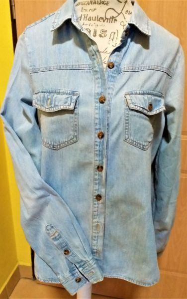 Odzież wierzchnia Katana jeansowa kurtka marynarka forever 21 premium demin r S