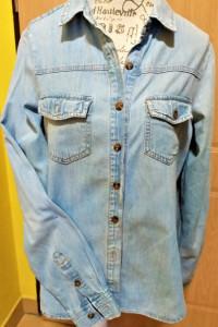 Katana jeansowa kurtka marynarka forever 21 premium demin r S...