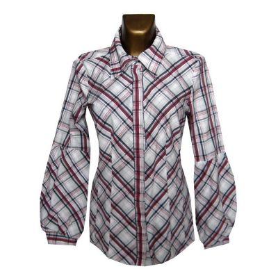 Bluzki Vero Moda Bawełniana Bluzka Koszula w Kratę 42 XL