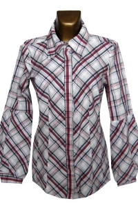 Vero Moda Bawełniana Bluzka Koszula w Kratę 42 XL
