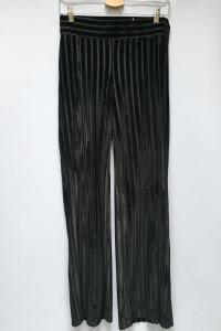 Spodnie Czarne Zara Rozporki Proste Nogawki Welurowe S 36...