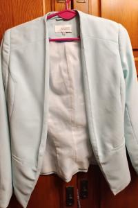 Miętowy żakiet marynarka Reserved 34