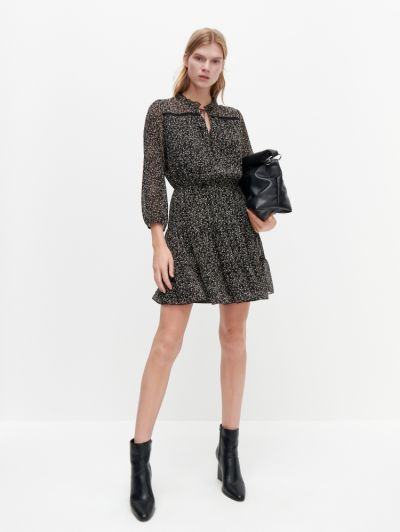 Suknie i sukienki Wzorzysta sukienka wiązanie