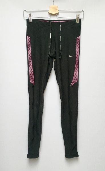 Legginsy Legginsy Sportowe Czarne Nike Running Dri Fit XS 34