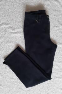 Granatowe bawełniane spodnie chinosy CANDA C&A...