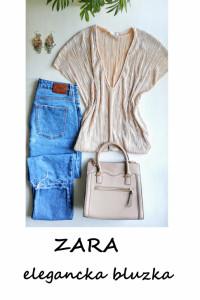 Beżowa bluzeczka ZARA basic minimalizm